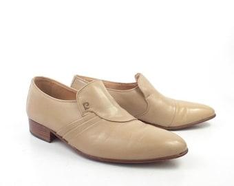 Pierre Cardin Shoes Leather Vintage 1970s Dress Loafers Men's size 7