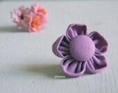 Lapel pin, flower. Mens boutonniere. Men accessories.  Cotton. 31 colors available.