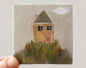 spring house  / original painting on canvas