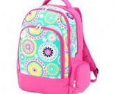 Monogrammed Backpack - Piper Print
