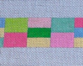 Patchwork Needlepoint Belt Canvas - Pastel