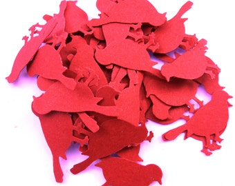48 Small Bird Scrap Book Embellishments.  Bird Confetti. Cards Stock Paper Die Cuts or Punches for Cards, Scrap Booking and More.