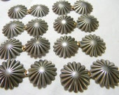 Cape Cloak Clasps-Round Fluted Style-Concho-Southwestern - Western- New Old Stock