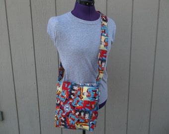Superman Super Hero Crossbody Novelty Messenger Bag