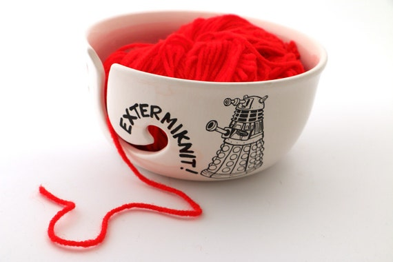 Extermiknit Yarn Bowl | Doctor Who Gift Guide