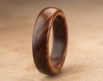 Size 8 - Guayacan Wood Ring No. 339