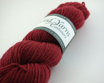 deSTASH: Harrisville Orchid Yarns with Cashmere Aztec Red
