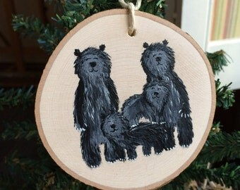 Large Ornament CUSTOM OF Family of Bears Personalized Painted Christmas Decor