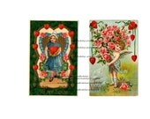 Valentines day digital Download vintage postcards paper ephemera