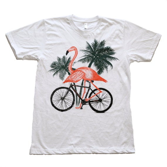 Mens Florida FLAMINGO T Shirt american apparel xs S M L Xl xxl (White)