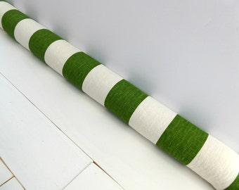 Door Draft Stopper - Green Door Snake - Unique Gift - Modern Home Decor - Green Striped Snake. 181.