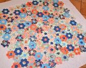 Quilt Top  Sale Grandmothers Flower Garden Fig Tree Quilts Aloha Girl English paper pieced Hexagon Applique