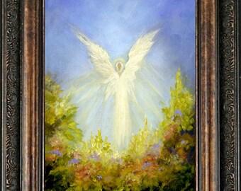 Angel Art Print, Spiritual Wall Decor, Guardian Angel, Angel, Wall Art, Home Decor