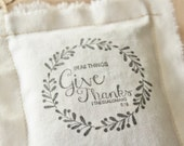 In All Things Give Thanks Sachet Ornament, 1 Thessalonians 5:18, Thanksgiving Hostess Gift