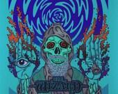 Black Sabbath Wizard Art Print (Blue Version)