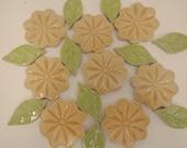 Yellow Flower Mosaic Tiles- 1.50  each