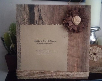 Barn Wood Picture Frame, Reclaiimed Wood Frame, Rustic Wedding, Rustic Decor