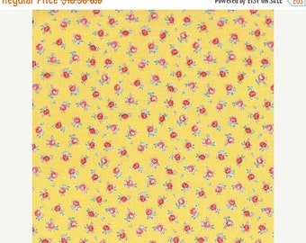 SALE Flower Sugar Spring 2015 Petite Yellow floral 31131L-50  one yard