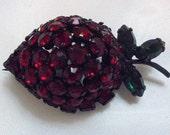 Vintage Warner Strawberry Fruit Pin Brooch