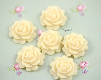 Butter Rose 15mm Cabochons - 4