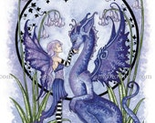 LAST ONES Dragon and fairy 8.5x11 PRINT Together by Amy Brown