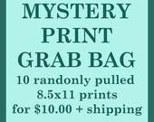 Last Call MYSTERY PRINT Grab Bag 8.5x11 prints