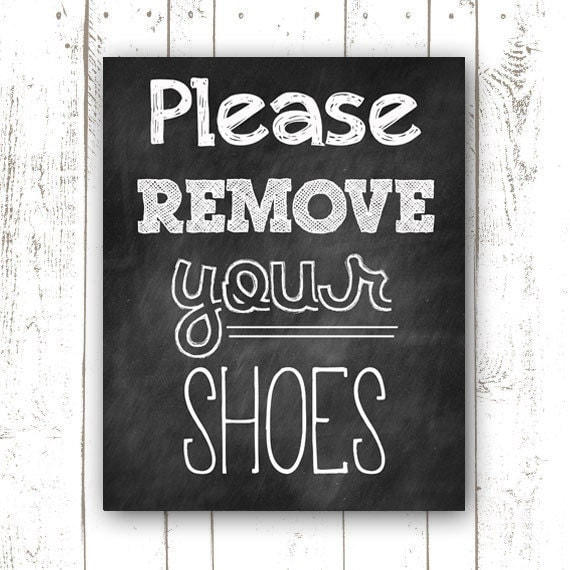 Adaptable image throughout please remove your shoes sign printable