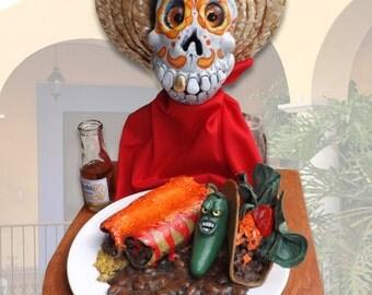 Un Poco Sabor de los Paraiso (A Little Taste of Heaven), original Dia de los Muertos sculpture