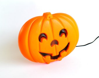 Vintage Halloween Pumpkin Blow Mold Light Up Decoration