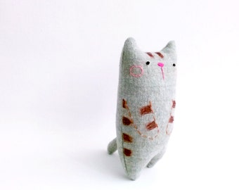 Small Cat Doll, Desk Toy, Plush Cat, Cat Miniature, Stuffed Cat, Cat Decor, Cat Gifts, Art Doll, Boyfriend Gift - Cat Lovers Gift
