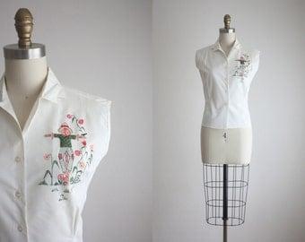 1950s scarecrow blouse
