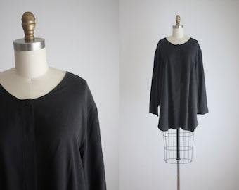 black silk tunic