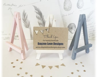 Mini Easel Stand, Wedding table number, party decor, chalkboard stand in custom colours