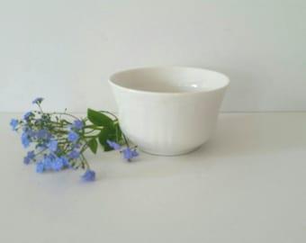 White Antique China Bowl . Small White Vintage Dish . Home Decor .