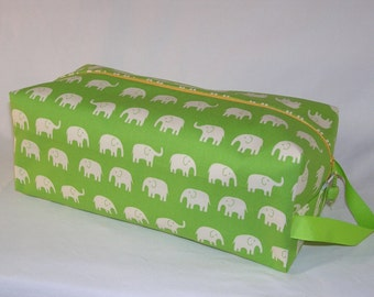 Elephants on Parade in Yellow Sweater Bag