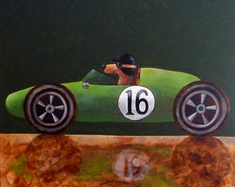 159 Cooper Climax - folded art card 15x15cm/6x6inch with envelope