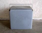 "Vintage ""Standard"" Coca Cola Cooler Ready for Restoration. Made by Acton Mfg Co. Arkansas City, Kansas. Circa 1940's - 1950's."