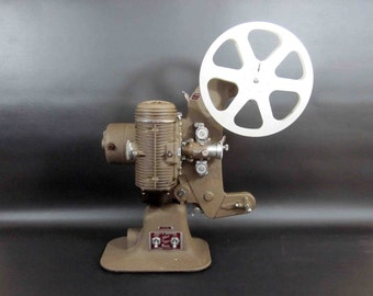 Vintage Bell and Howell Filmo Master 400 8mm Film Projector. Circa 1940's.