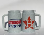 Vintage Houston Astros Astrodome Souvenir Mugs made by Whirley