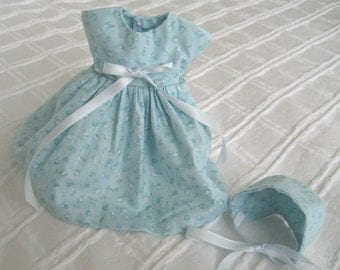 "Ginny 8"" Doll Clothes, ""Felicity"" Dress and Bonnet"