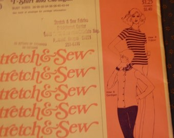 Stretch and Sew Sewing Pattern T-Shirt and Cardigan 300 Sale