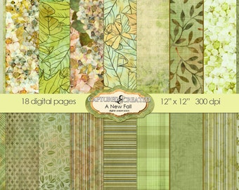 A New Fall Digital Paper Pack *******INSTANT DOWNLOAD*********
