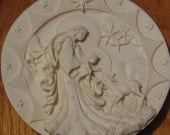 1997 Amore Gentile, Gentle Love Christmas Collector Plate, 6th Milennium Series. Mary Jean Dorcy Silhouette, Ennio Morcaldo Alfonso Lucchest