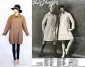 Vintage 60s All Weather Jacket / Rain Coat / Fisherman / Outerwear / 1960s Mod Tent Trapeze / Light Brown / Open Size