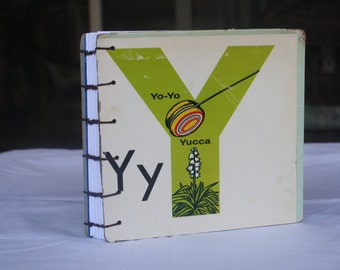 Upcycled handbound journal book or sketchbook
