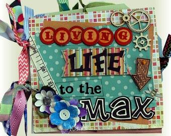 Mini Scrapbook Album, Life Scrapbook, Living Life to the Max, Life Scrapbook, Birthday Album, Family Album, Wedding Gift, Anniversaries