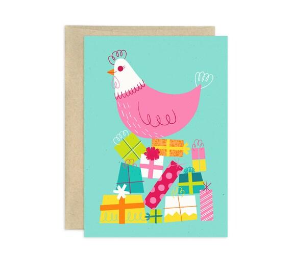 Happy Birthday Henny Illustrated Birthday Card