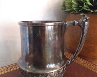 Vintage James W TUFTS Quadruple ~ Mug ~ Cup ~ Shabby chic Organizer or Vase