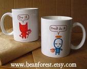 devil angel cute mugs boyfriend gift for friend coffee mug coworker gifts 11oz coffee cup naughty or nice mug kawaii devil kitchenware do it