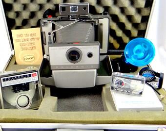 1965 Polaroid Land Camera 103 with 6 Attachments & Briefcase